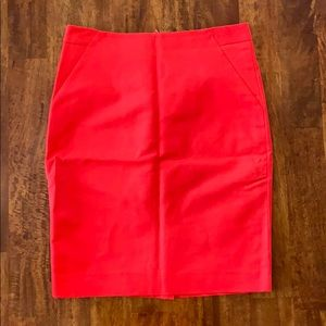Limited red pencil skirt size 4